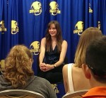 An Early Morning Press Conference with Danielle Panabaker