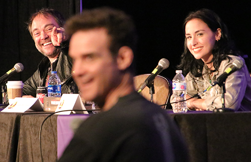 Mark Sheppard, Eddie McClintock, and Allison Scagliotti