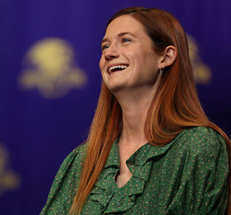 Actress Bonnie Wright, who played Ginny Weasley in the Harry Potter series