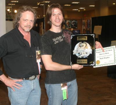 Matt Hughes accepts the Best in Show award