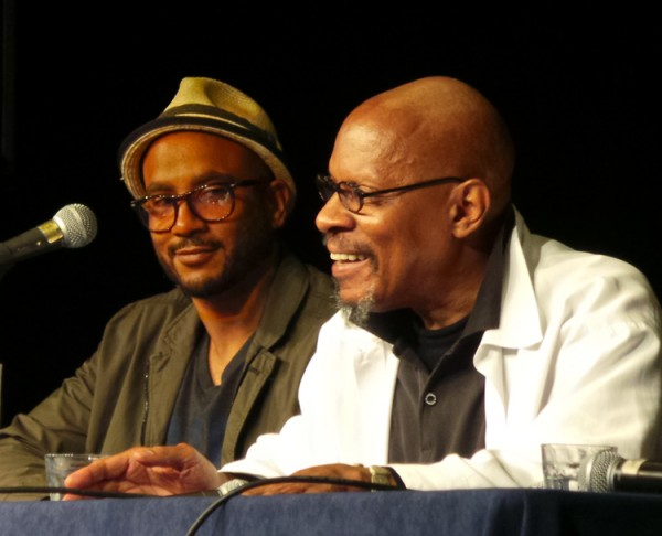 Cirroc Lofton and Avery Brooks on Deep Space Nine panel