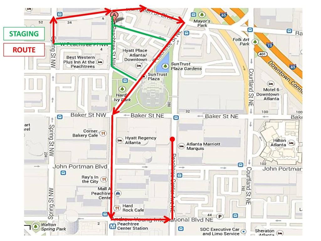 2014 Dragon Con Parade Route