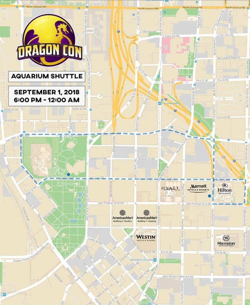 Aquarium Shuttle Map