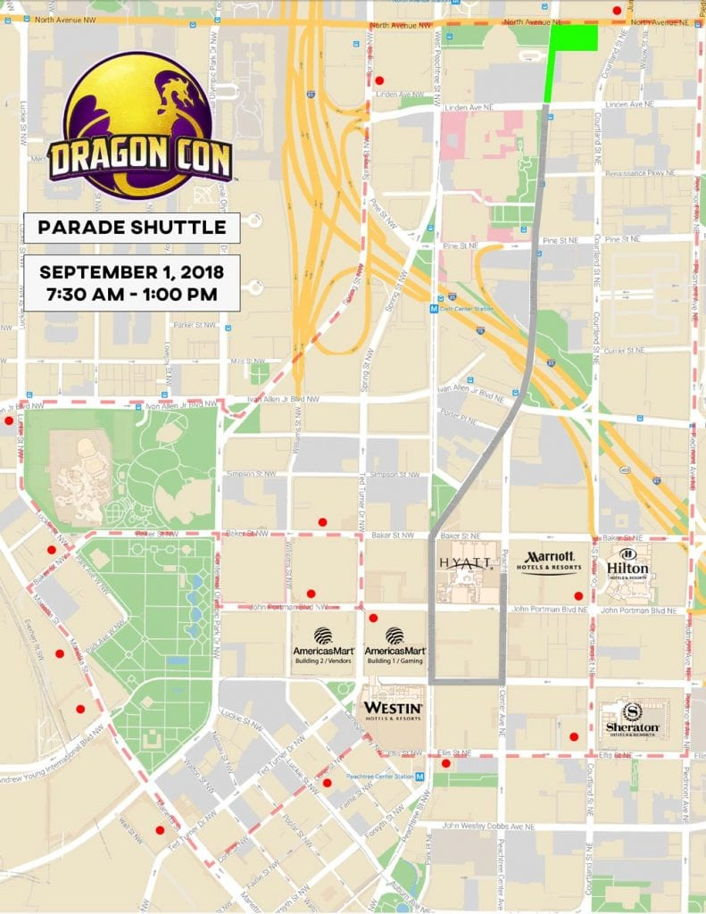 Parade Shuttle Map