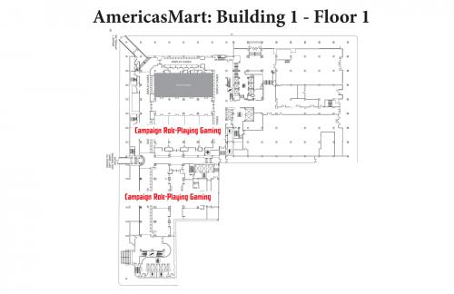 Map of AmericasMart - Building 1, Floor 1