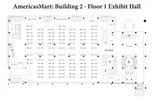 Map of AmericasMart - Building 2, Floor 1