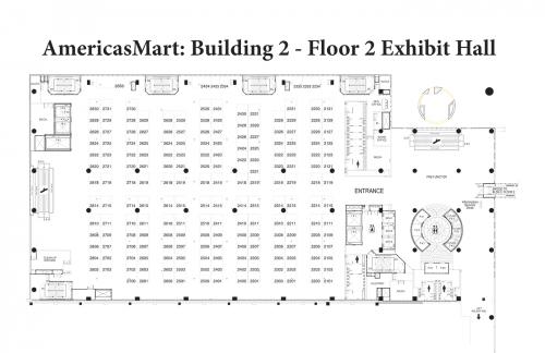 Map of AmericasMart - Building 2, Floor 2