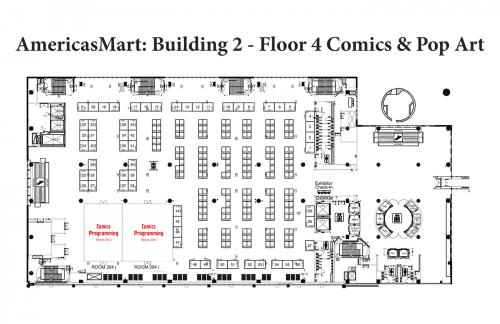 Map of AmericasMart - Building 2, Floor 4