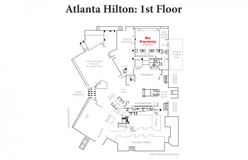 Map of Hilton 1st Floor