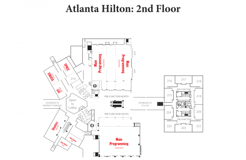 Map of Hilton 2nd Floor