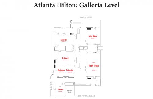 Map of Hilton Galleria Level