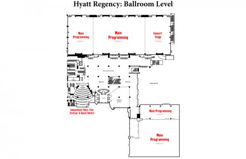 Map of Hyatt Ballroom Level