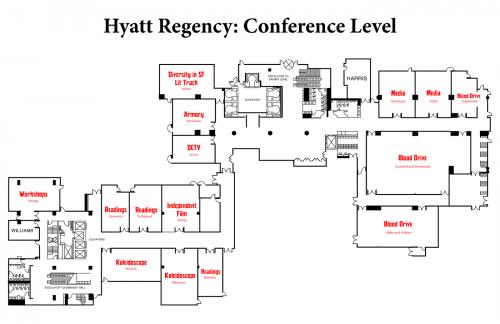 Map of Hyatt Conference Level