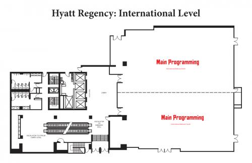 Map of Hyatt International Level