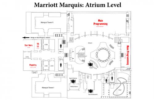 Map of Marriott Atrium Level