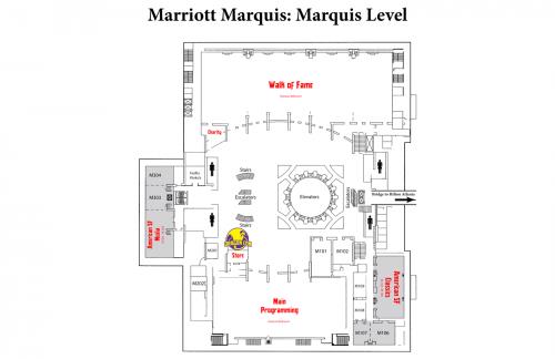 Map of Marriott Marquis Level