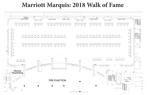 Map of Marriott Walk of Fame