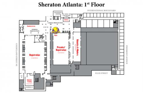 Map of Sheraton 1st Floor