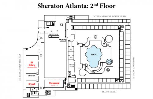 Map of Sheraton 2nd Floor