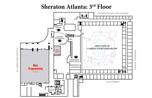 Map of Sheraton 3rd Floor