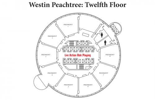 Map of Westin 12th Floor