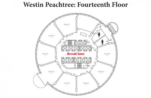 Map of Westin 14th Floor