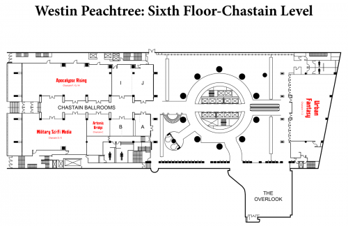Map of Westin 6th Floor