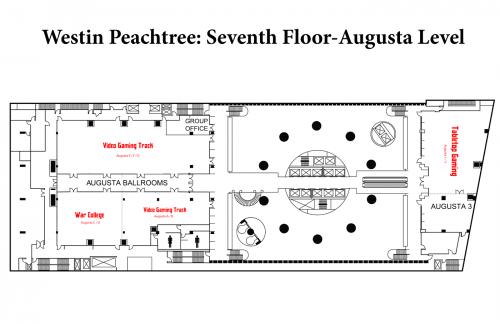 Map of Westin 7th Floor